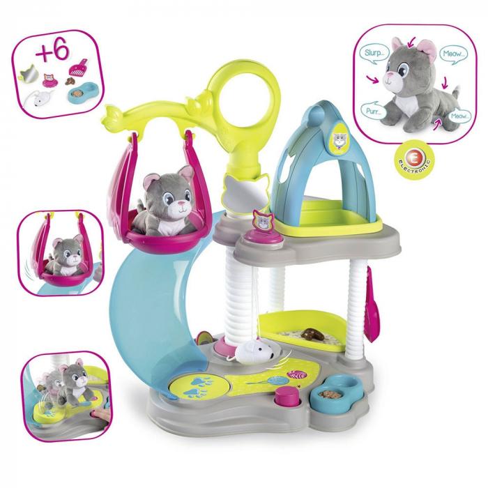 Centru de joaca pentru pisici de jucarie Smoby Cat's House [1]