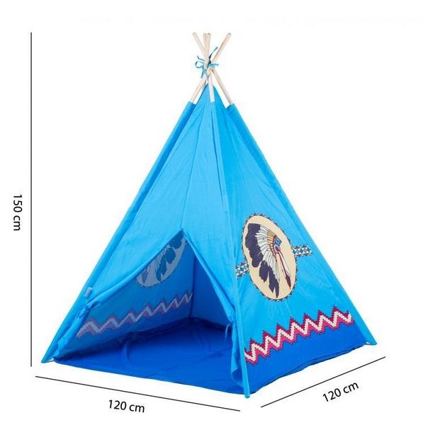 Cort de indieni 8172 Ecotoys - Albastru 4