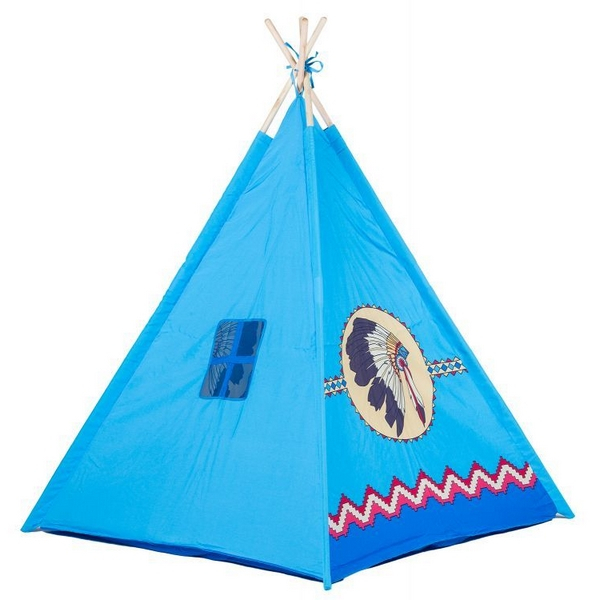 Cort de indieni 8172 Ecotoys - Albastru 0