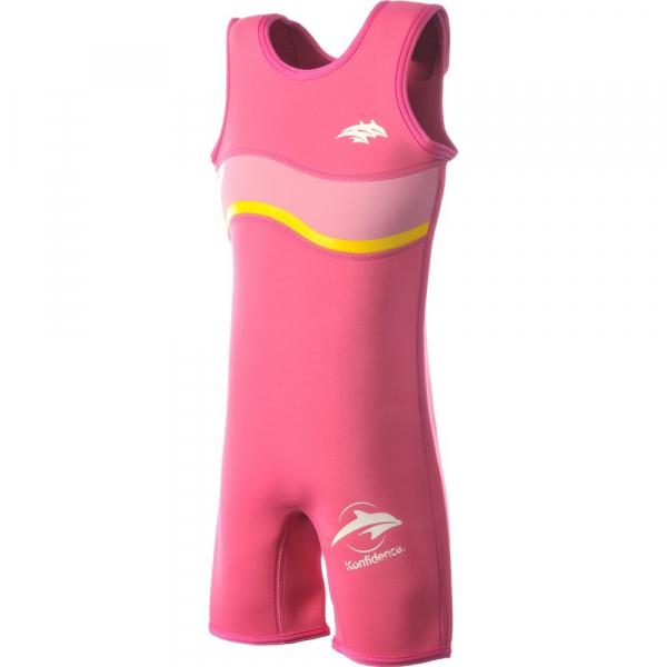 Costum inot copii din neopren Warma Wetsuit Pink 2-3 ani - Konfidence [0]