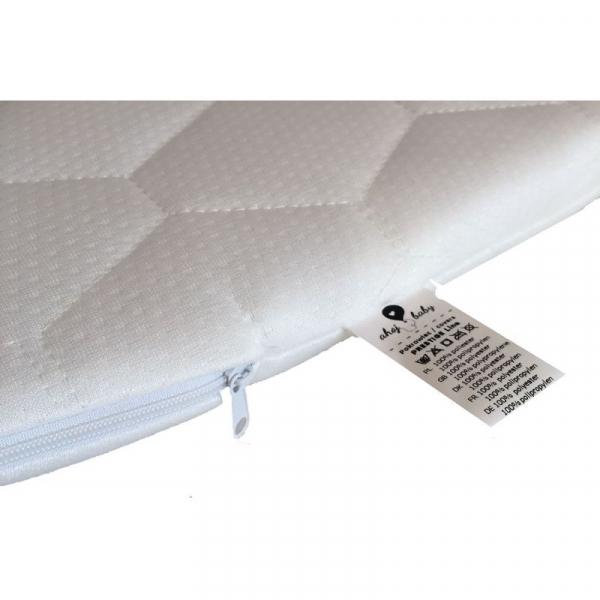 Cosulet bebe pentru dormit handmade din material ecologic Ahoj Baby natur, include stand cu sistem de leganare [2]
