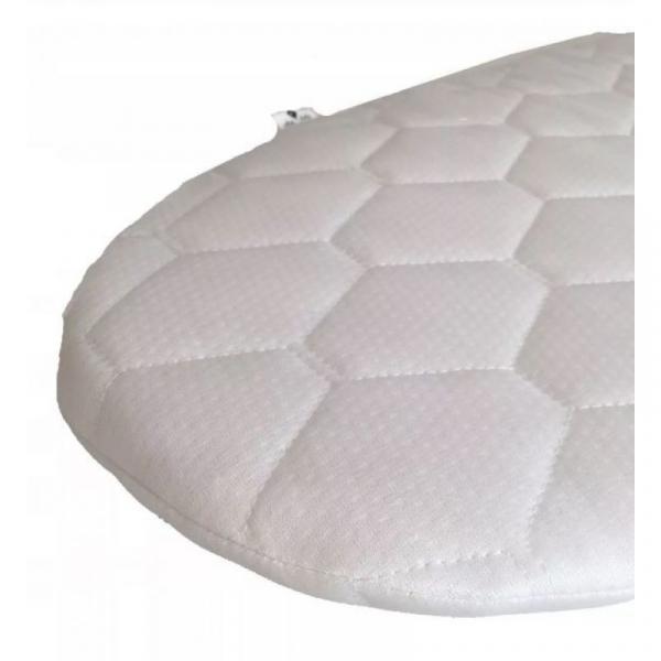 Cosulet bebe pentru dormit handmade din material ecologic Ahoj Baby natur, include stand cu sistem de leganare [8]