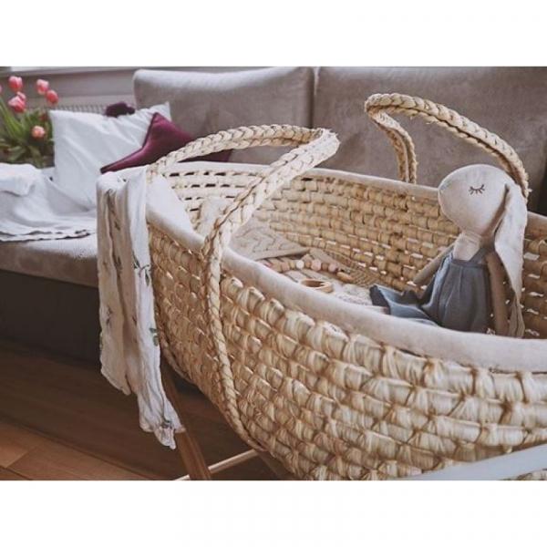 Cosulet bebe pentru dormit handmade din material ecologic Ahoj Baby natur [3]