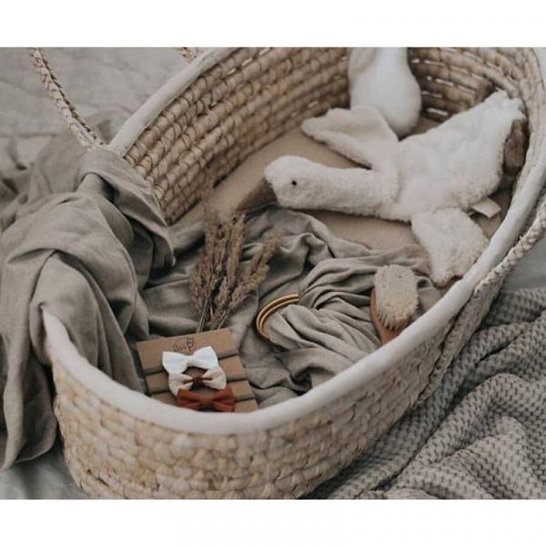 Cosulet bebe pentru dormit handmade din material ecologic Ahoj Baby natur [4]