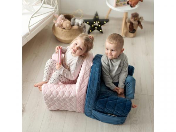 Fotoliu Copii Klups Velvet Roz V101 5