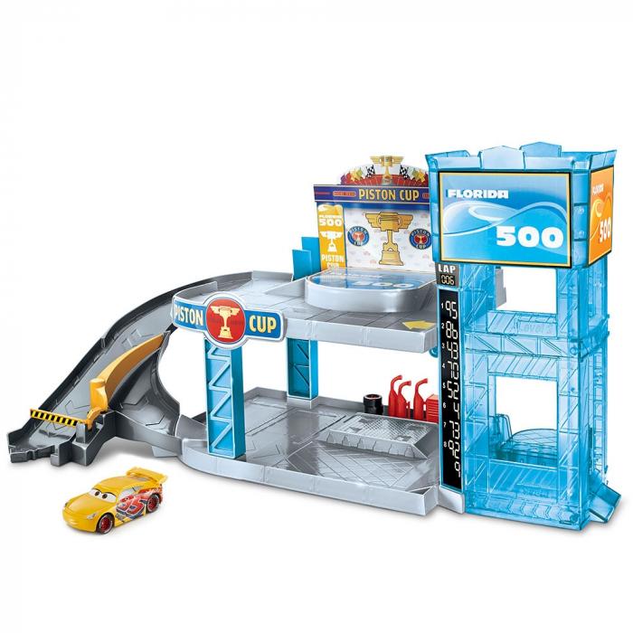 Jucarie Disney Cars by Mattel Garaj Florida 500 cu masinuta [0]