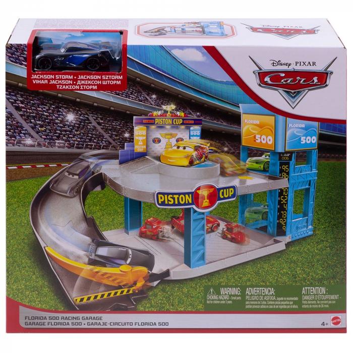 Jucarie Disney Cars by Mattel Garaj Florida 500 cu masinuta [3]
