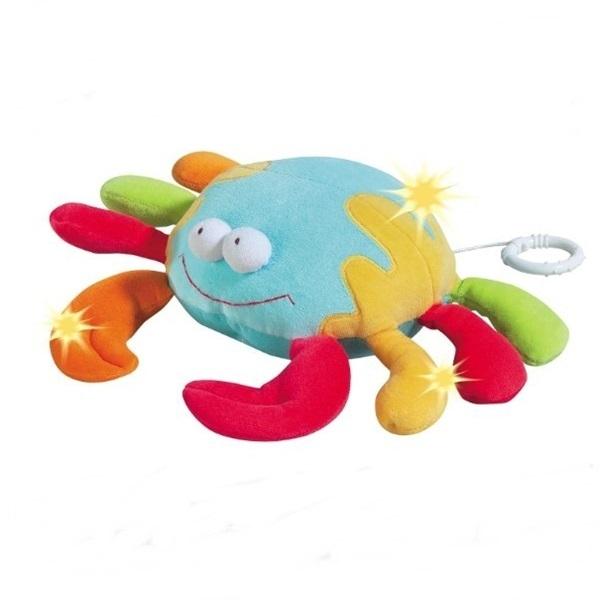 Jucarie muzicala Crab - Brevi Soft Toys-168129 0