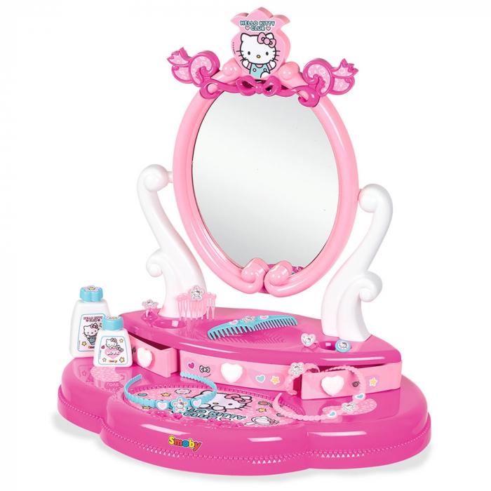 Jucarie Smoby Masuta de machiaj Hello Kitty Hairdresser 2 in 1 [1]