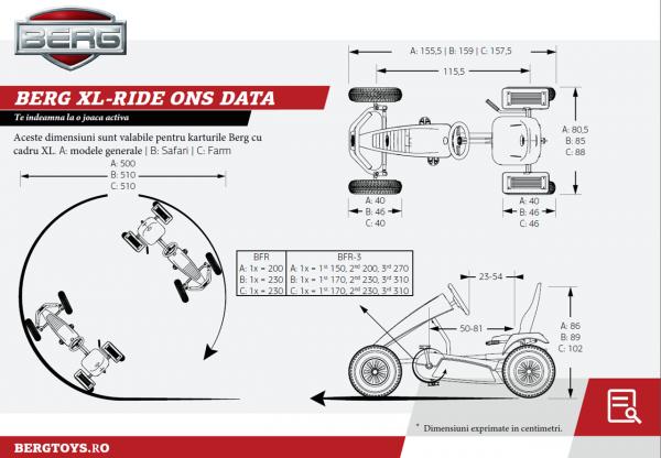 Kart cu pedale BERG Extra Sport BFR - red 7