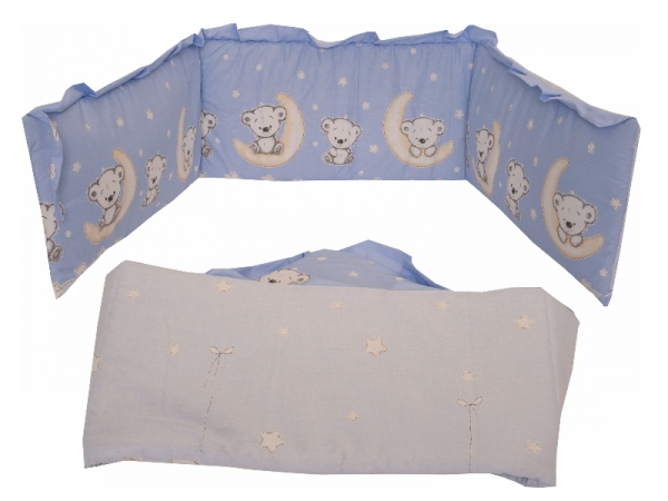Lenjerie MyKids Bear On Moon Blue M2 4+1 Piese 120x60 4