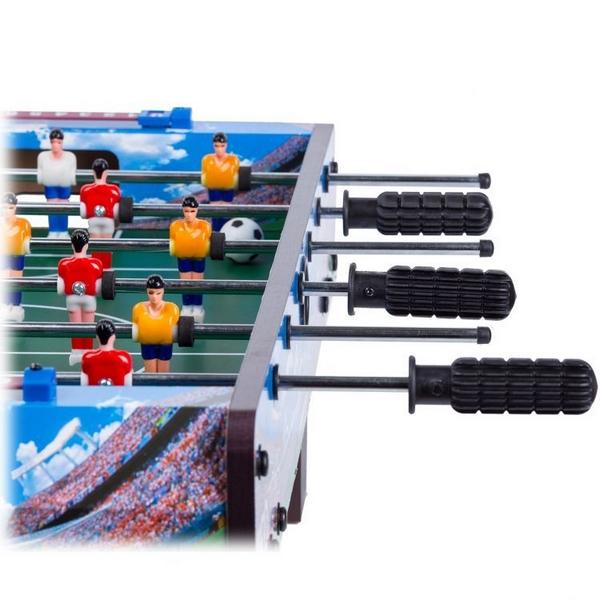 Masa de fotbal din lemn Ecotoys 70 x 36 x 24 cm - Albastru [2]