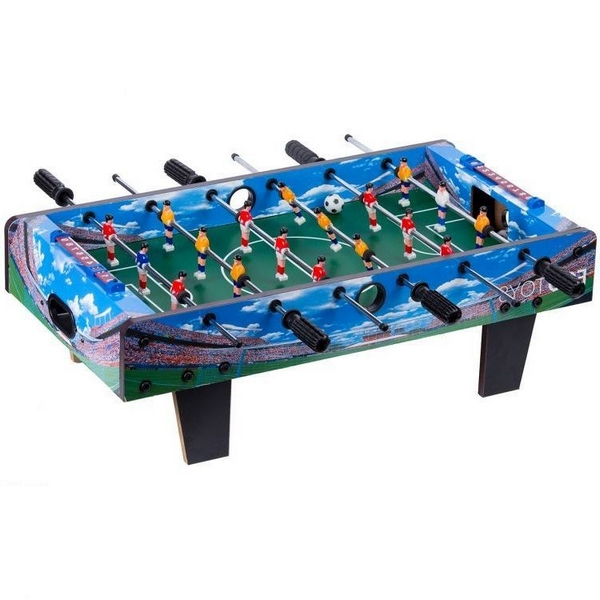 Masa de fotbal din lemn Ecotoys 70 x 36 x 24 cm - Albastru [6]