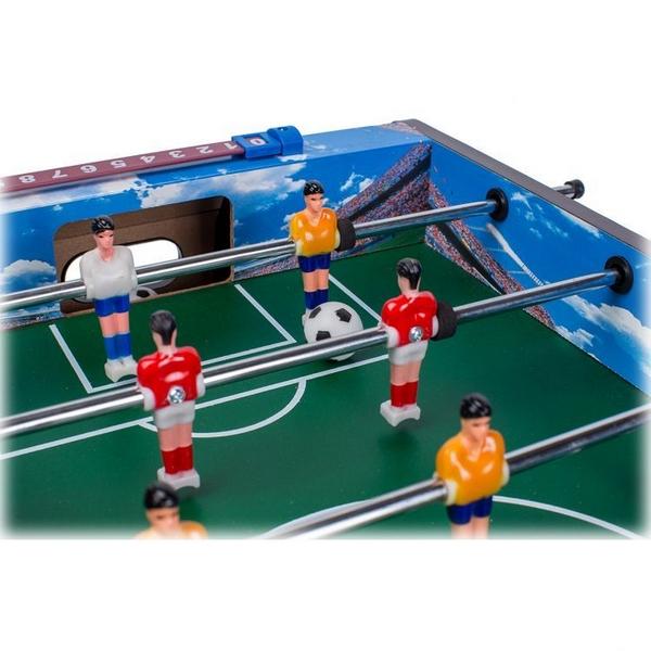 Masa de fotbal din lemn Ecotoys 70 x 36 x 24 cm - Albastru [4]