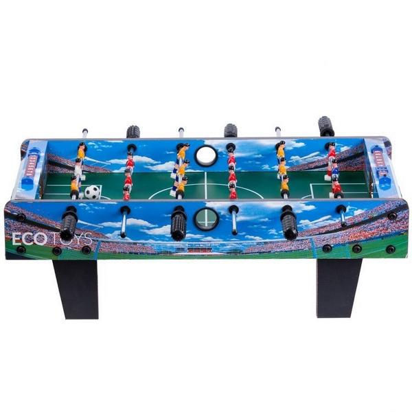 Masa de fotbal din lemn Ecotoys 70 x 36 x 24 cm - Albastru [0]