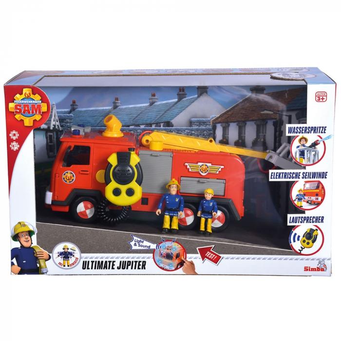 Masina de pompieri Simba Fireman Sam Mega Deluxe Jupiter cu 2 figurine si accesorii [5]