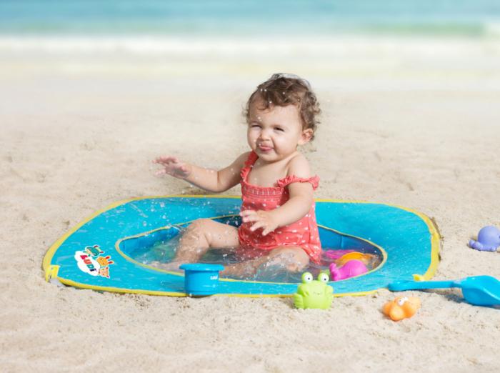 Pachet-Minipiscina de plaja cu jucarii 123 SOARE+Cort UV50 Sun Set [1]