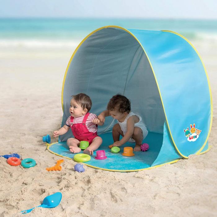 Pachet-Minipiscina de plaja cu jucarii 123 SOARE+Cort UV50 Sun Set [6]
