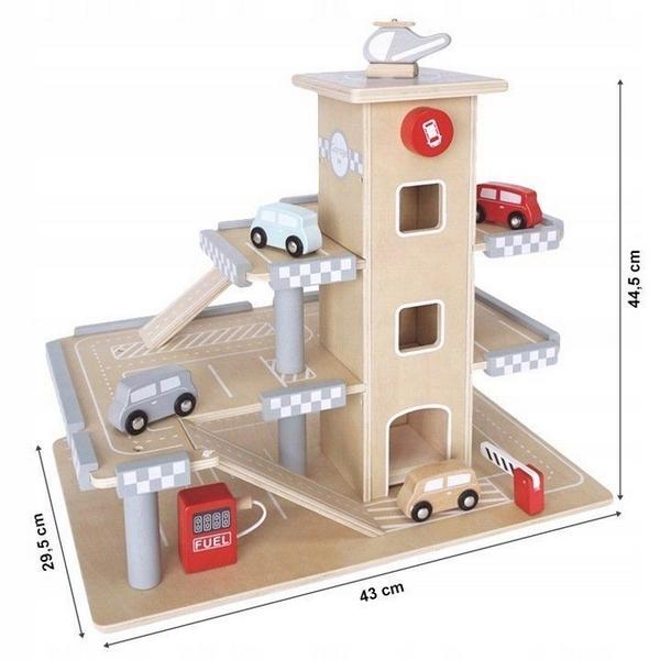 Parcare din lemn cu etaje si lift Ecotoys CA12104 3