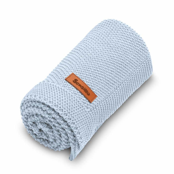Paturica de bumbac tricotata Sensillo 100x80 cm [5]
