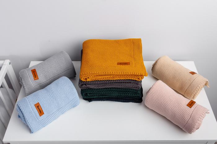 Paturica de bumbac tricotata Sensillo 100x80 cm [2]