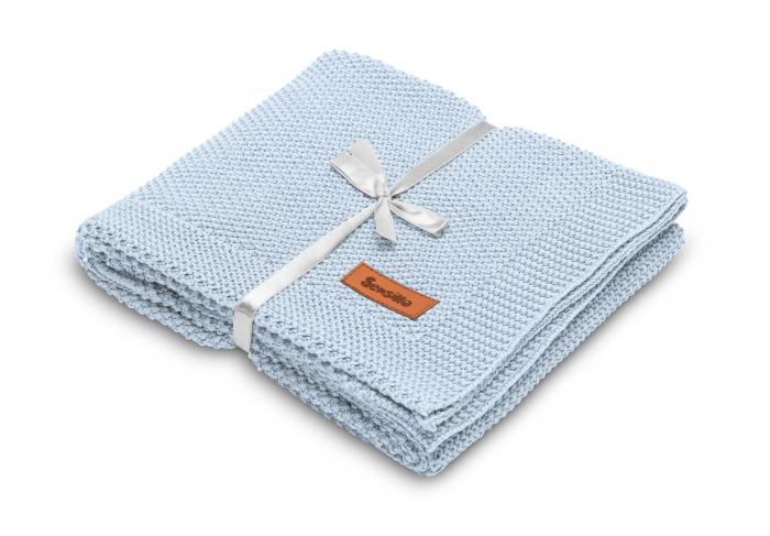 Paturica de bumbac tricotata Sensillo 100x80 cm [7]