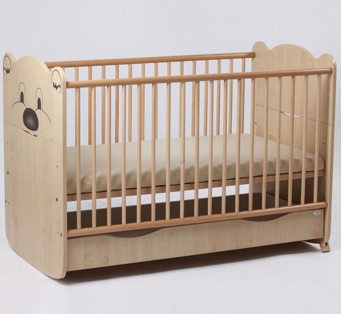 Patut bebelusi Teddy dimensiune 120x60 cm Paltin Bebe Design 0