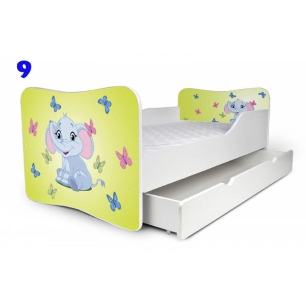 Patut copii Nobiko Butterfly 140x70 cu saltea si sertar 0