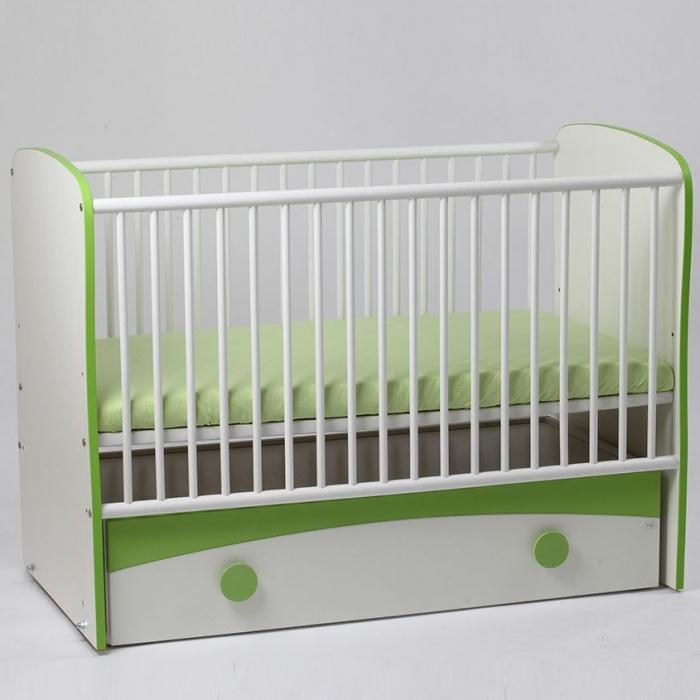 Patut culisant cu leganare Baby Fashion Verde Bebe Design 0