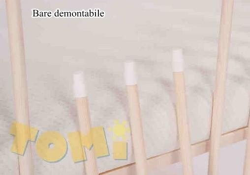 Patut din lemn pentru copii Tomi XI color cu laterala culisanta 3