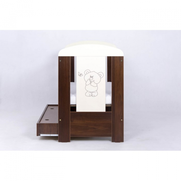 Patut Drewex Bear cu sertar - Wenge + Saltea Cocos 12 cm 3