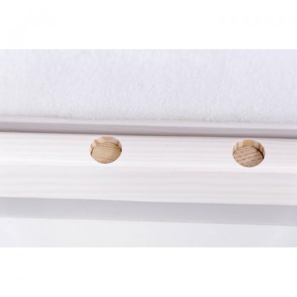 Patut Drewex Laura cu sertar - Alb + Saltea Cocos 12 cm 3