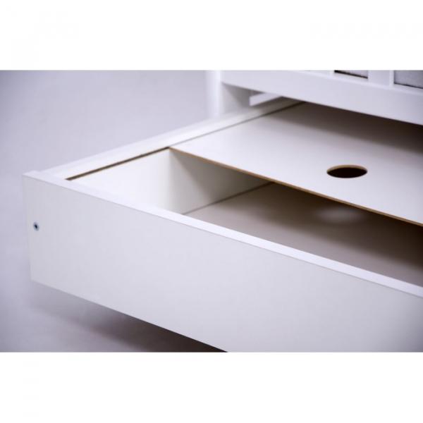 Patut Drewex Olek cu sertar - Alb + Saltea Cocos 12 cm 5