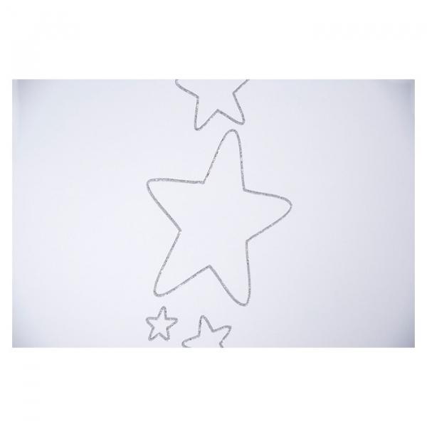 Patut Drewex Stars cu sertar - Silver + Saltea Cocos 12 cm 3