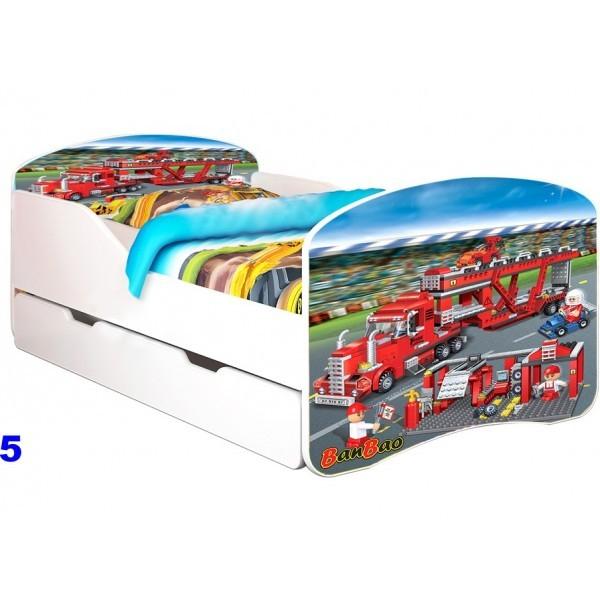 Patut Nobiko Rainbow Banbao Line 140 x 70 cu saltea si sertar 0