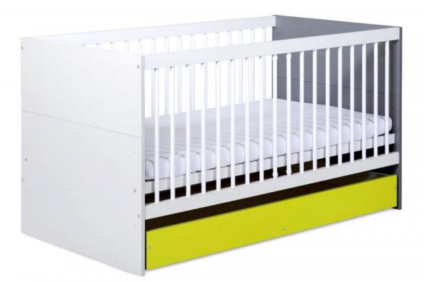 Patut Transformabil pentru Copii BARTEK II Lime 0