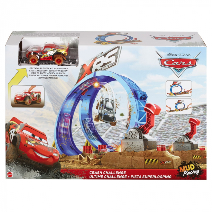 Pista de masini Disney Cars by Mattel XRS cu masinuta [5]