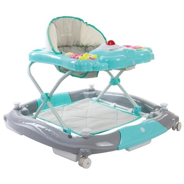 Premergator Sun Baby Ursulet 010 cu functie de balansoar - Turquoise 0