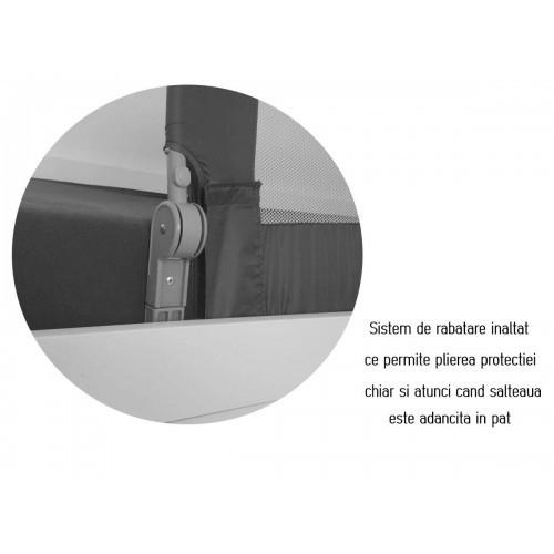 Protectie pat rabatabila pentru somiera adancita 150 cm alb - Olmitos [4]