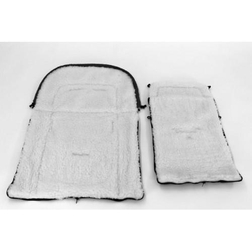 Sac de iarna pentru carucior cu interior din lana pentru 0-3 ani gri - Camicco [3]