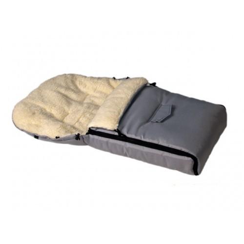 Sac de iarna pentru carucior cu interior din lana pentru 0-3 ani gri - Camicco [0]