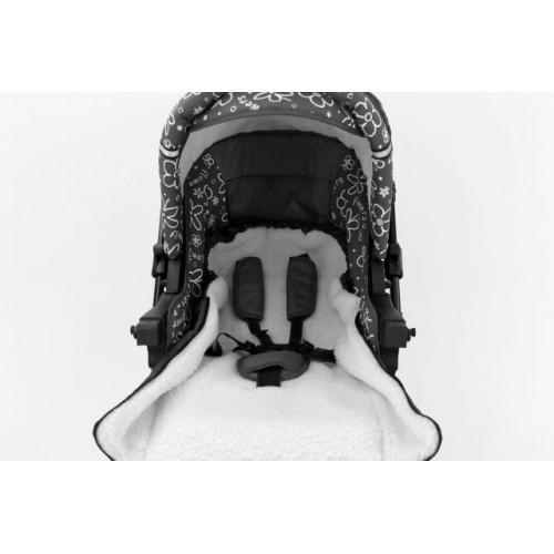 Sac de iarna pentru carucior cu interior din lana pentru 0-3 ani gri - Camicco [2]