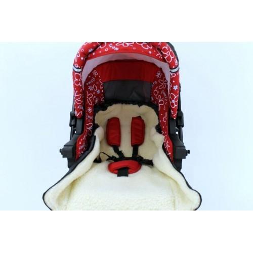 Sac de iarna pentru carucior cu interior din lana pentru 0-3 ani rosu - Camicco [2]