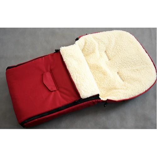 Sac de iarna pentru carucior cu interior din lana pentru 0-3 ani rosu - Camicco [1]