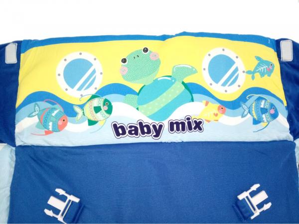 Saltea de joaca cu protectii laterale Boat - Baby Mix [6]
