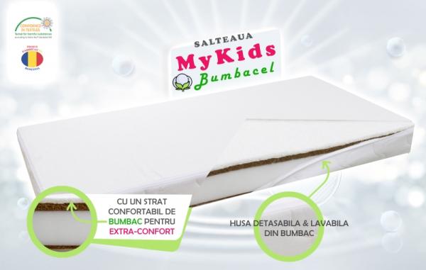 Saltea Fibra Cocos MyKids Bumbacel 120x60x11 (cm) 0