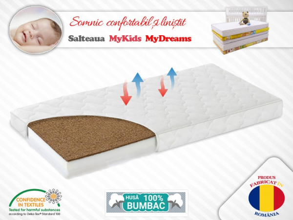 Saltea Fibra Cocos MyKids MyDreams I 120x60x12 (cm) 0