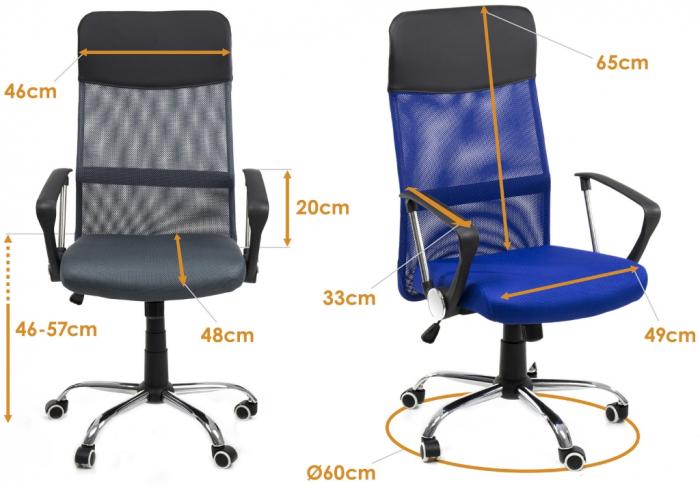 Scaun birou ergonomic Sportmann 2501-albastru [4]