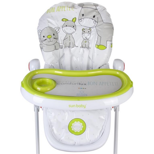 Scaun de masa Sun Baby 004 Comfort Lux - Green 3
