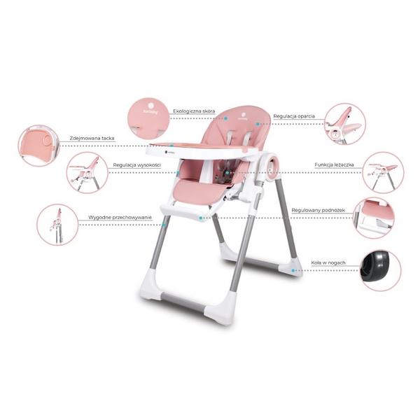 Scaun de masa Sun Baby 012 Fidi Pink 14